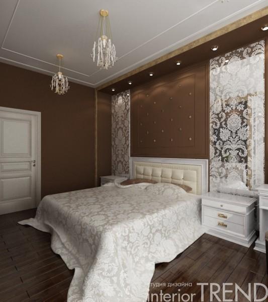 Спальня в шоколадном цвете фото