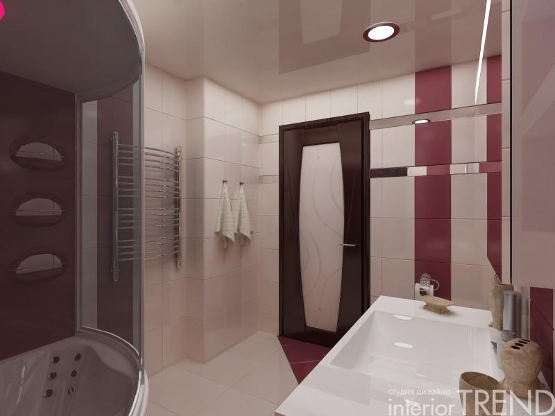 Дизайн проект ванных комнат с душевой кабиной